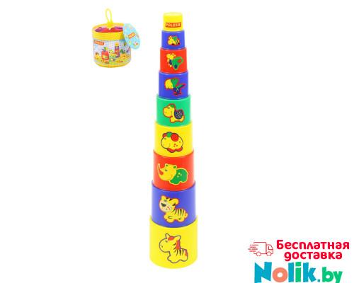 Детская занимательная пирамидка №3 (9 элементов) (в сеточке). Арт. 52582 Полесье в Минске