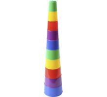 Детская игрушка Занимательная пирамидка №2 (10 элементов) (в пакете). Арт. 35967 Полесье
