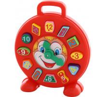 Детские часы-сортер Клоун Полесье (в сеточке). Арт. 62741
