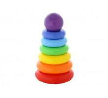 Развивающая игрушка пирамидка Полесье «Колечко-шар» (8 элементов), h=240 мм. Арт. 62383