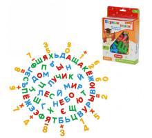 Обучающий набор буквы + цифры «Первые уроки» (66 букв + 20 цифр + 10 символов) на магнитах (в коробке). Арт. 70302 Полесье