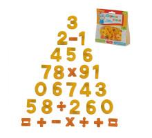 """Набор магнитных цифр и знаков """"Первые уроки"""" (20 цифр + 10 математических знаков) (в пакете). Арт. 70647 Полесье"""