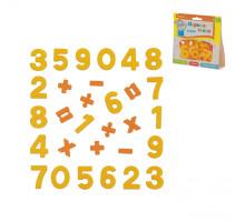 """Магнитные цифры и знаки """"Первые уроки"""" (20 цифр + 10 математических знаков) (в пакете). Арт. 70654 Полесье"""