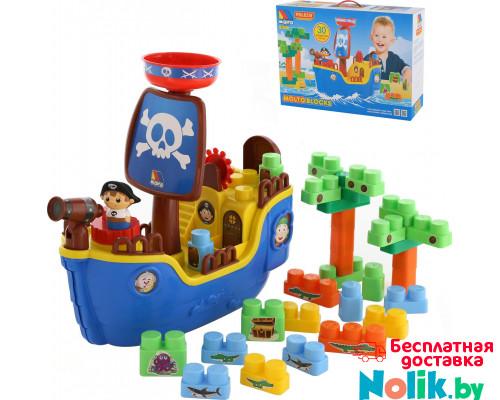 """Игрушка для детей набор """"пиратский корабль"""" + конструктор (30 элементов) (в коробке) арт. 62246. Полесье в Минске"""