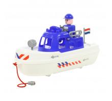 """Игрушка Полесье катер полиция """"патруль"""" (NL) (в сеточке) арт. 71149"""