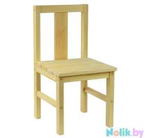 Стульчик детский деревянный большой. Стульчик из массива. Высота 33 см. Естественный цвет. Арт. SVN33
