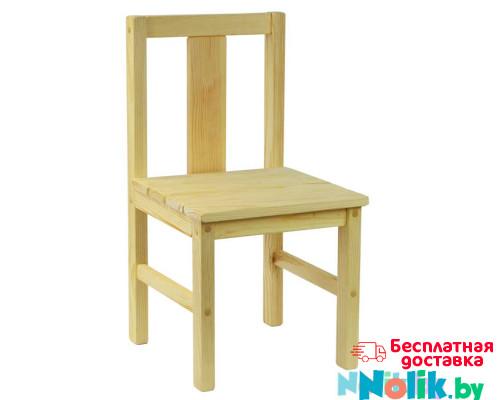 Стульчик детский деревянный большой. Стульчик из массива. Высота 33 см. Естественный цвет. Арт. SVN33 в Минске