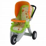 Коляска для кукол №2 прогулочная 3-х колёсная (в пакете) цвет салатовый арт. 48141. ПОЛЕСЬЕ