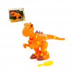 """Конструктор-динозавр """"Тираннозавр"""" (40 элементов) (в коробке) арт. 77158. Полесье"""