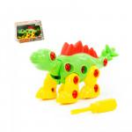 """Игрушка для детей конструктор-динозавр """"Стегозавр"""" (30 элементов) (в коробке) арт. 76793. Полесье"""