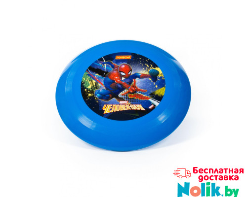 """Детская игрушка  летающая тарелка MARVEL """"Человек-паук"""" (v2) арт. 77844. Полесье в Минске"""