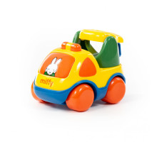 """Детская игрушка  автомобиль-эвакуатор """"Миффи"""" №2 (в сеточке) арт. 77448. Полесье"""