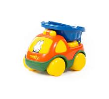 """Игрушка для детей автомобиль-самосвал """"Миффи"""" №1 (в сеточке) арт. 77394. Полесье"""