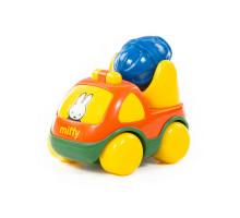 """Игрушка для детей Автомобиль-бетоновоз """"Миффи"""" №1 (в сеточке) арт. 77370. Полесье"""