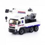 """Игрушка для детей """"Volvo"""", автомобиль-кран с поворотной платформой полицейский (NL) (в сеточке) арт. 77318. Полесье"""