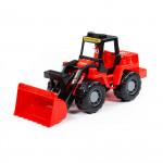 """Игрушка для детей """"MAMMOET"""" """"Техник"""", трактор-погрузчик (в сеточке) арт. 77332. Полесье"""