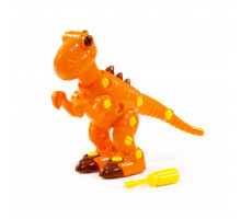 """Детский конструктор-динозавр """"Тираннозавр"""" (40 элементов) (в пакете) арт. 76700. Полесье"""