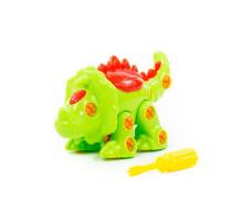 """Конструктор-динозавр """"Трицератопс"""" (32 элементов) (в пакете) арт. 76717. Полесье"""