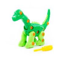 """Конструктор для детей динозавр """"Диплодок"""" (35 элементов) (в пакете) арт. 76724. Полесье"""