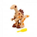 """Детский конструктор-динозавр """"Велоцираптор"""" (36 элементов) (в пакете) арт. 76823. Полесье"""