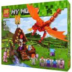Конструктор Майнкрафт Крепость 461 деталь, аналог Лего Minecraft. Арт. 33223