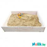 Детская песочница деревянная для дачи. Размер 105*100 см. Высота 15 см. Цвет естественный. Арт. П-100