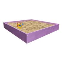 Песочница детская деревянная для дома и дачи. Размер 105*100 см. Высота 15 см. Цвет сиреневый. Арт. П-100