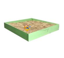 Песочница детская деревянная для дома и дачи. Размер 105*100 см. Высота 15 см. Цвет салатовый. Арт. П-100