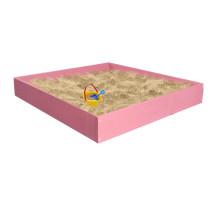 Песочница детская деревянная для дома и дачи. Размер 105*100 см. Высота 15 см. Цвет розовый. Арт. П-100