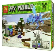 Конструктор Майнкрафт Северный голубой дракон 33225, аналог Лего Minecraft. Арт. 33225