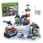 Конструктор Майнкрафт Маяк 3 в 1, 553 детали, аналог Лего Minecraft Арт. 33017