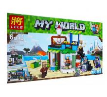 Конструктор Майнкрафт Кондитерская 3 в 1, 446 деталей, аналог Лего Minecraft Арт. 33221
