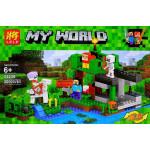 Конструктор Майнкрафт Крепость на воде, 300 деталей, аналог Лего Minecraft Арт. 33236