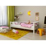 Кровать детская деревянная из массива с ламелями Магия. Цвет белый. Размер 200*90.