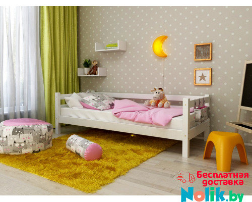 Кровать детская деревянная из массива с ламелями Магия. Цвет белый. Размер 200*90.  в Минске