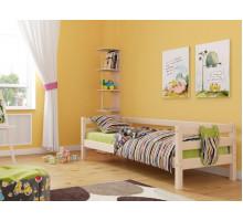 Детская кровать деревянная из массива с ламелями Магия. Цвет естественный. Размер 200*90.