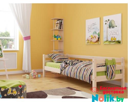 Детская кровать деревянная из массива с ламелями Магия. Цвет естественный. Размер 200*90.  в Минске