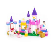 """Конструктор """"Макси"""" - """"Весёлая принцесса"""" (86 элементов) (в коробке). Совместим с Лего Дупло (LEGO Duplo). арт. 77691. Полесье"""