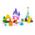 """Конструктор """"Макси"""" - """"Весёлая принцесса"""" (70 элементов) (в коробке). Совместим с Лего Дупло (LEGO Duplo). арт. 77707. Полесье"""