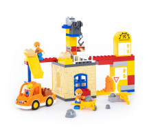 """Конструктор """"Макси"""" - """"Строительная фирма"""" (66 элементов) (в коробке). Совместим с Лего Дупло (LEGO Duplo). арт. 77615. Полесье"""