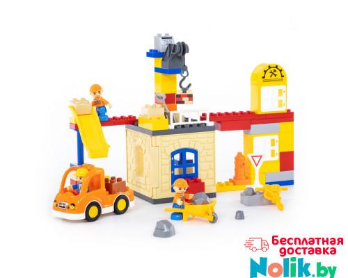 """Конструктор """"Макси"""" - """"Строительная фирма"""" (66 элементов) (в коробке). Совместим с Лего Дупло (LEGO Duplo). арт. 77615. Полесье в Минске"""