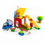"""Конструктор """"Макси"""" - """"Весёлая ферма"""" (50 элементов) (в коробке). Совместим с Лего Дупло (LEGO Duplo).  арт. 77578. Полесье"""
