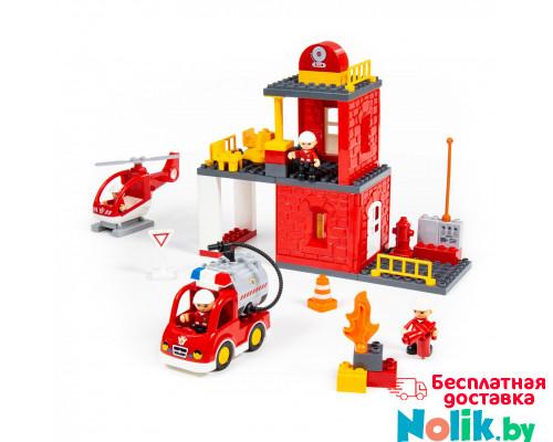"""Конструктор """"Макси"""" - """"Пожарная станция"""" (64 элемента) (в коробке). Совместим с Лего Дупло (LEGO Duplo). арт. 77516. Полесье в Минске"""