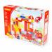 """Конструктор """"Макси"""" - """"Пожарная станция"""" (81 элемент) (в коробке). Совместим с Лего Дупло (LEGO Duplo). арт. 77509. Полесье в Минске"""