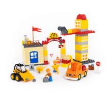 """Конструктор """"Макси"""" - """"Строительная фирма"""" (90 элементов) (в коробке). Совместим с Лего Дупло (LEGO Duplo). арт. 77608. Полесье"""