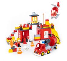 """Конструктор """"Макси"""" - """"Пожарная станция"""" (95 элементов) (в коробке). Совместим с Лего Дупло (LEGO Duplo). арт. 77493. Полесье"""