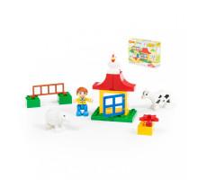"""Конструктор """"Макси"""" - """"Мини-Ферма"""" (15 элементов) (в коробке). Совместим с Лего Дупло (LEGO Duplo). арт. 77660. Полесье"""