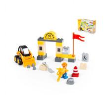 """Конструктор """"Макси"""" - """"Строительная фирма"""" (36 элементов) (в коробке). Совместим с Лего Дупло (LEGO Duplo). арт. 77622. Полесье"""