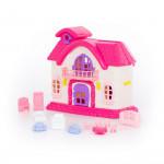 """Кукольный домик """"Сказка"""" с набором мебели (12 элементов) (в пакете) арт. 78261. Полесье"""