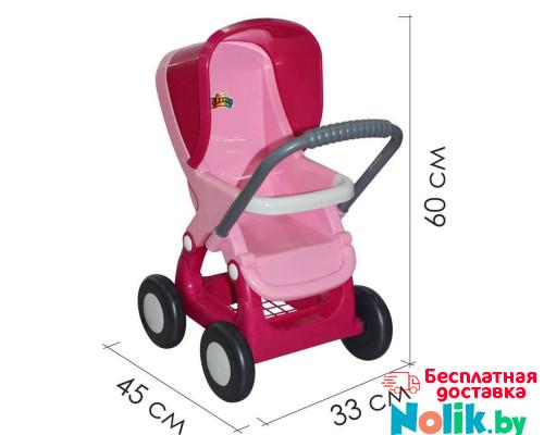 Коляска для кукол прогулочная 4-х колёсная (в пакете) Цвет розовый. арт. 48134. ПОЛЕСЬЕ в Минске